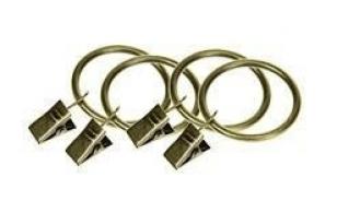 Žiedai su segtukais karnizams  COLOSSEO 25mm